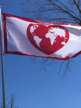 Flag Of Love (3' x 6') price $40.00 Canadian (approx.$31.00 usd)